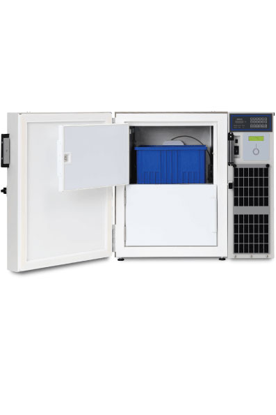 Under Counter ULT RFID Freezer open for inventory management