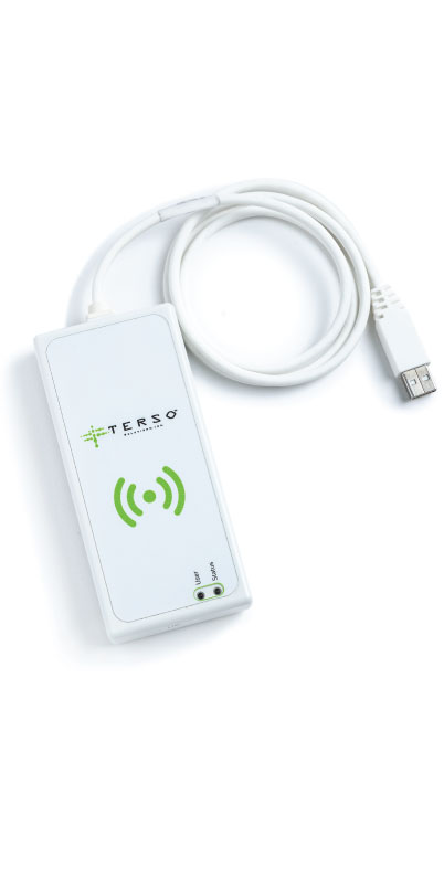 RFID tag reader for use in hospitals, labs & stockrooms to read tags quickly and save time