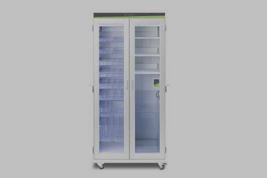 The Large Secured Access Cabinet can track who accesses the cabinet and when