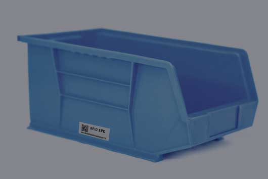 Tagged bins help you to keep track of everyday consumables that you don't want to tag individually