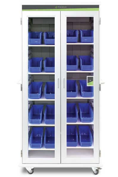 two-bin kanban system with added security