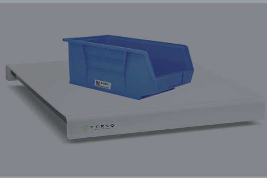 To track the items that have been used, place the 2-bin kanban bin on the RFID Surface Read Point