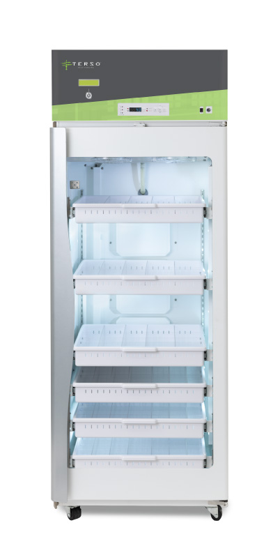 Large RFID Refrigerator for managing temperature controlled iinventory for healthcare and life science